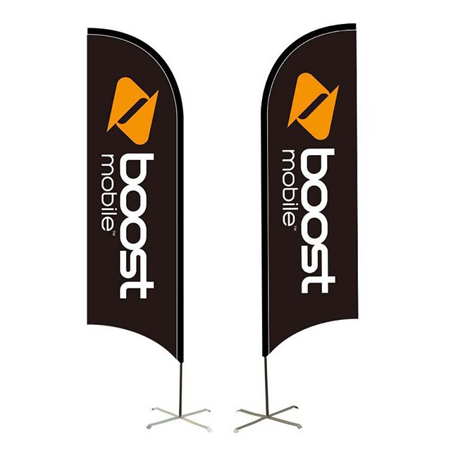 Custom Printed Feather Swooper Advertising Flag D-B002