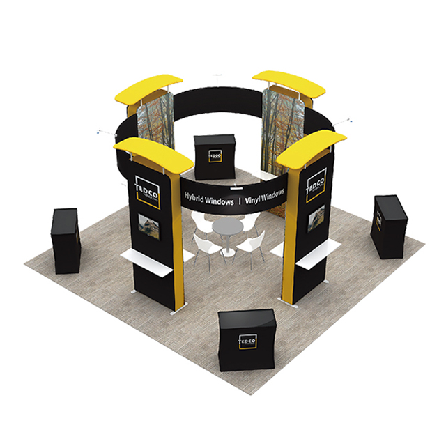 Portable Aluminum Trade Show Exhibition Display Design 20x20