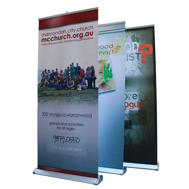 Luxury Chromed Single Sided Retractable Banner Stand D-R004