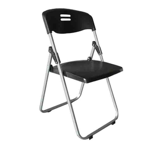 Exhibition Use Plastic Black Folding Chair