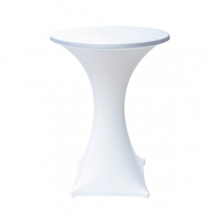 Portable Tension Fabric Cover White Standing Table