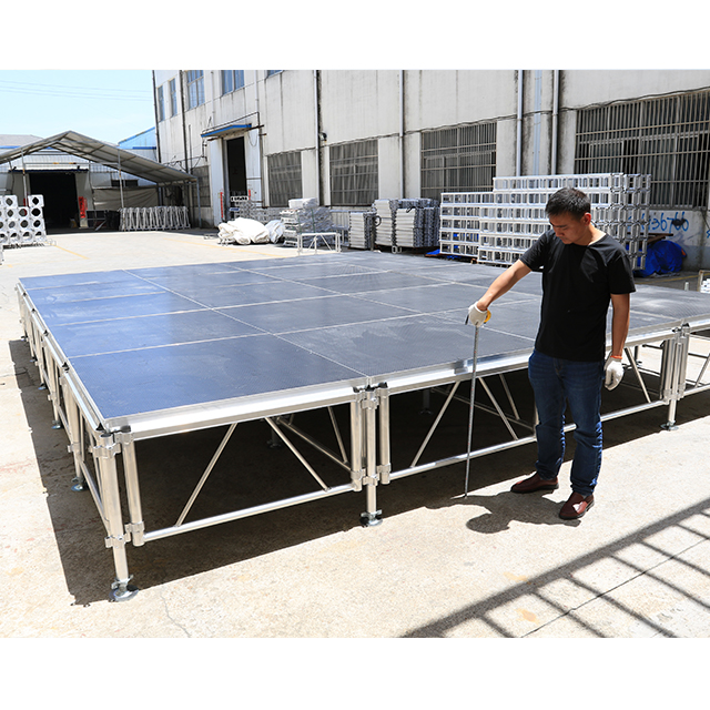 18mm Thickness Anti-slip Plywood Aluminum Modular Stage For Concert