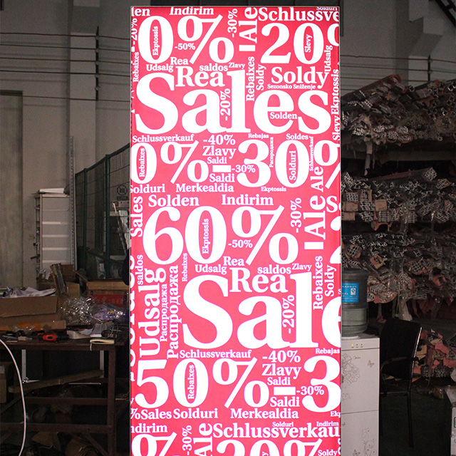 Double Sided Free Standing Led Fabric Light Box Frame for Promotion