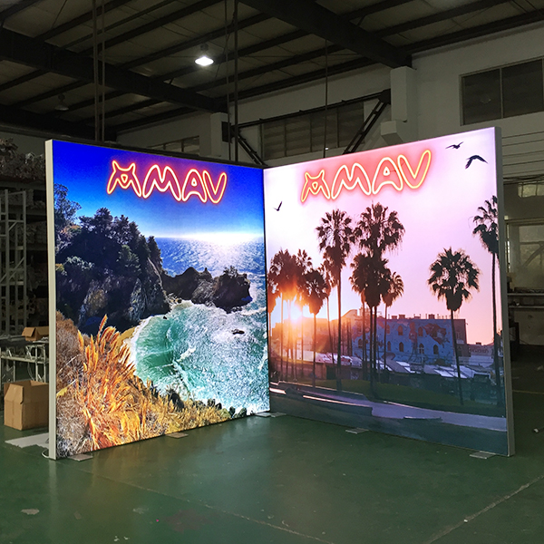 10'x8' Tenison Fabric Backlit Trade Show Displays USA for Sale