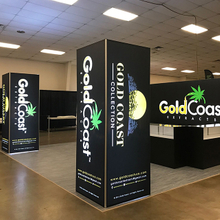 Illuminated Tension Fabric Trade Show Backlit Towers Displays