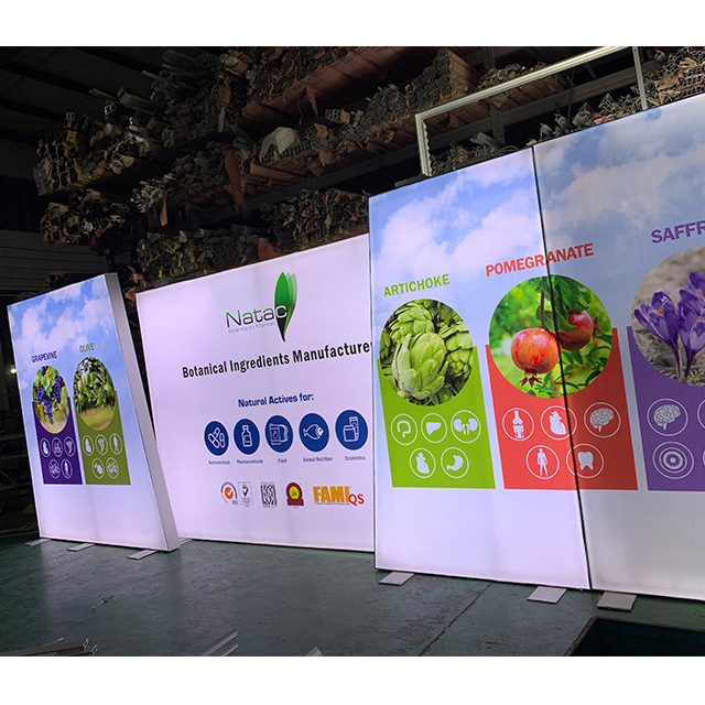 Free Standing Trade Show Angle Backlit Wall for Exhibition