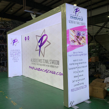 10'x20' Free Standing Frameless Backlit Light Box Exhibition Stands to USA