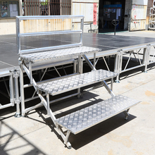 China Supplier Portable Anti-slip 4 Layers Aluminum Folding Chorus Stage for School