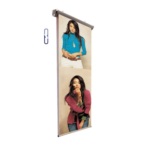 Scrolling Electric Pull Up Banner Stand D-R015