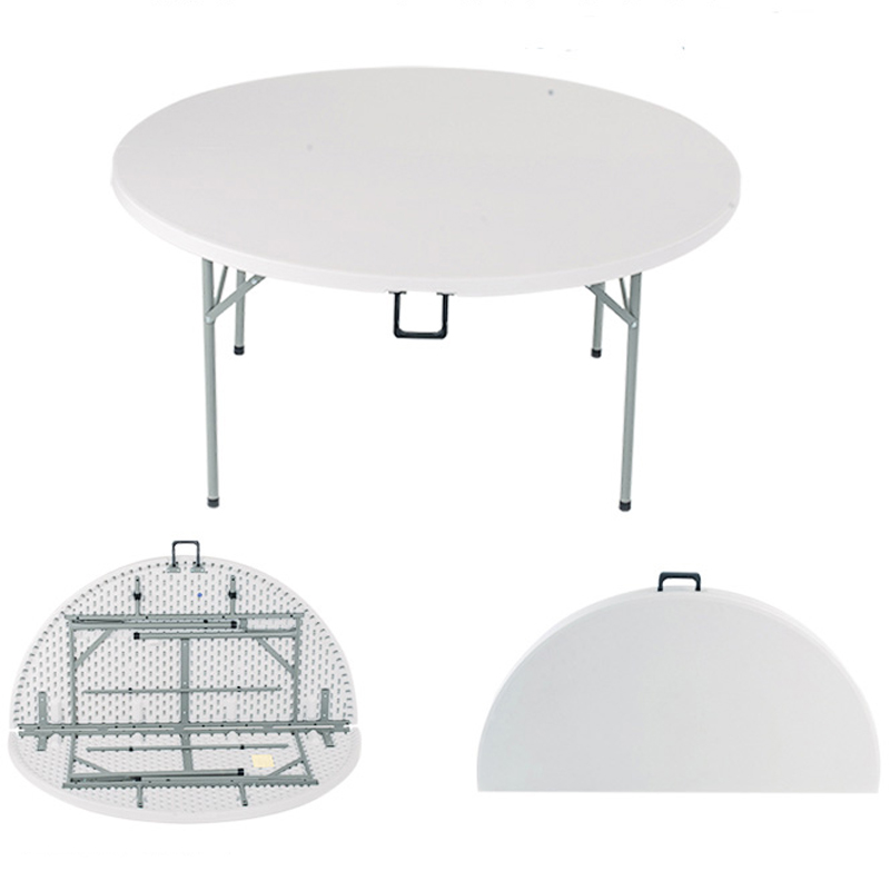 China Folding Round Plastic Table For Exhibition