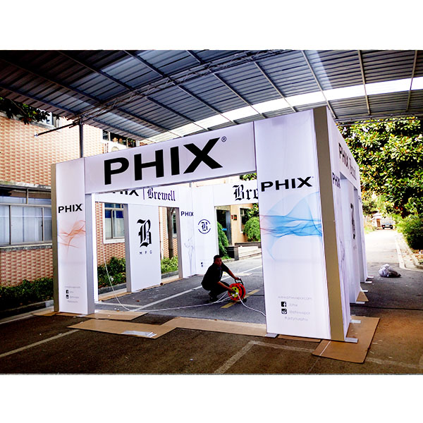 20' x 20' Trade Show Frameless LED Light Box Exhibition Booth Design