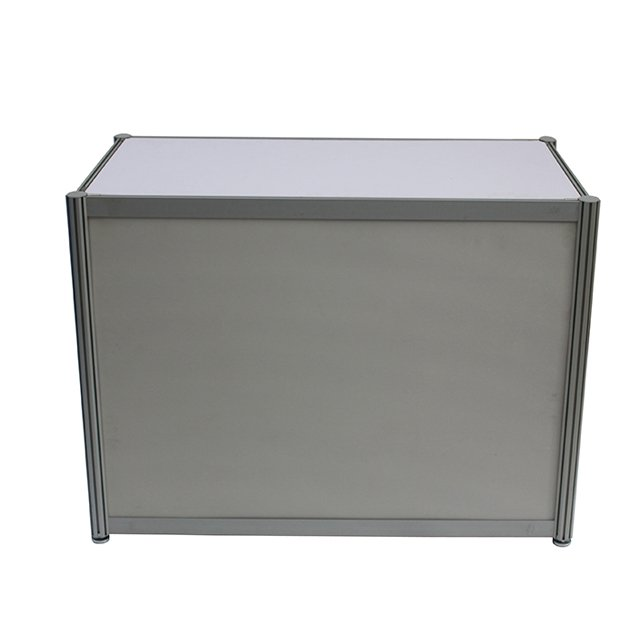 Exhibition Booth Table : Exhibition booth use aluminum frame reception desk from china