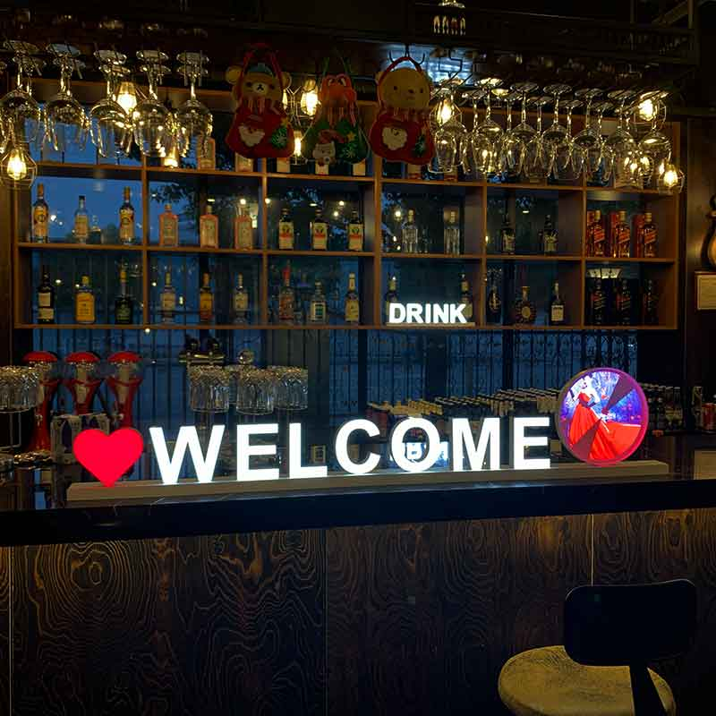 Welcome' Magnetic Luminous LED Letter Signs for Music Bar
