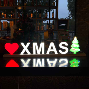 'XMAS' Face-lit LED Letter Lights Sign for Music Club