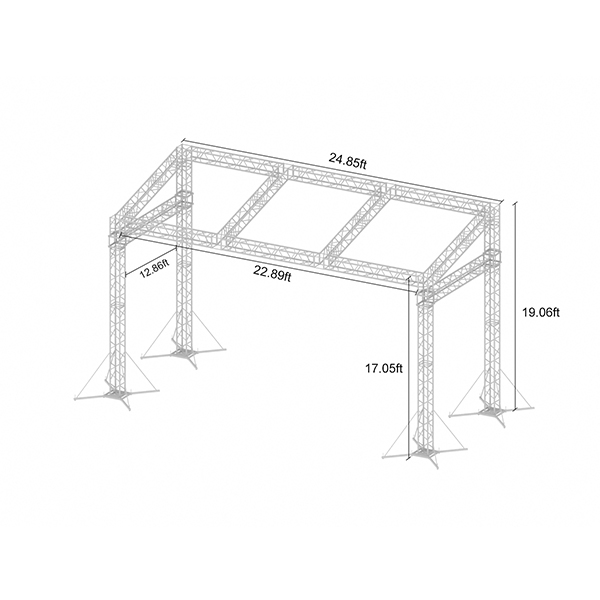 China Outdoor Spigot Aluminium Event Sloping Roof Truss Structure