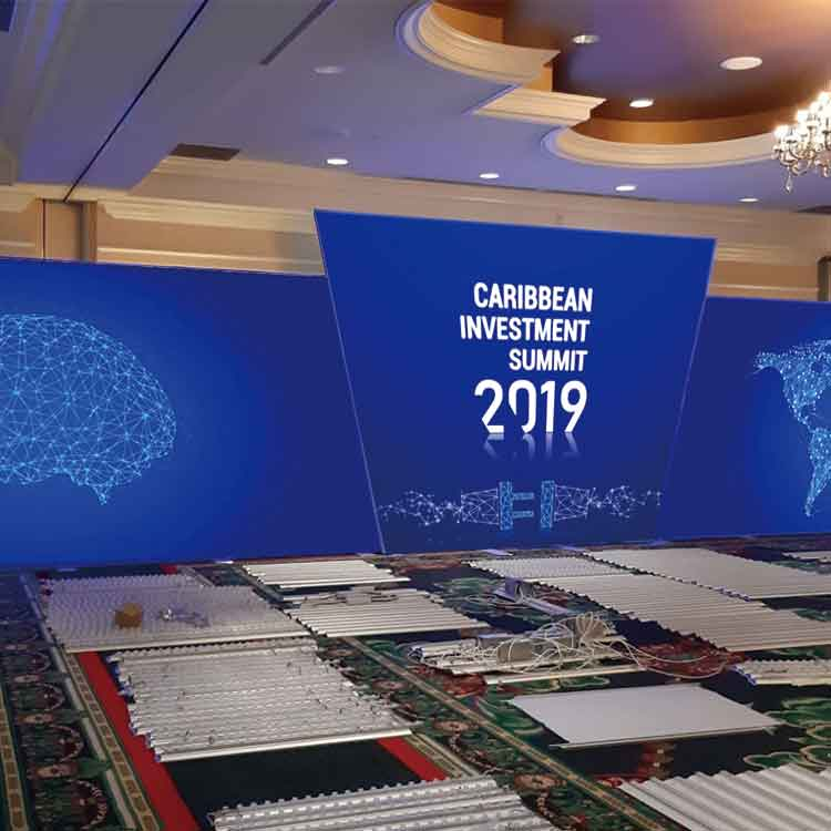 30'x30' Fast Installation Aluminium Backlit Fabric Display Stand for Conference