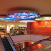 Ceiling Suspended Double Sided Backlit Signage Fabric Display For 4S Shop