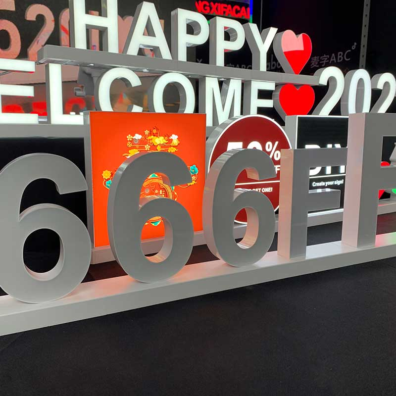 Hotel Magnetic Click LED Illuminated Signs and Letters