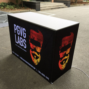 "55""x26""x39"" Environment friendly Aluminium Backlit Display Lightbox Exhibition Counter"