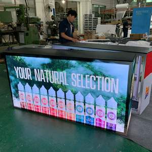 "79""x20""x39"" Aluminum Trade Show SEG Light Box Back-lit Counter"
